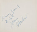Movie/TV Memorabilia:Autographs and Signed Items, Jean Harlow and Others Signed Autograph Book....
