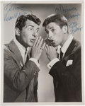 Movie/TV Memorabilia:Autographs and Signed Items, Dean Martin and Jerry Lewis Signed Photo....