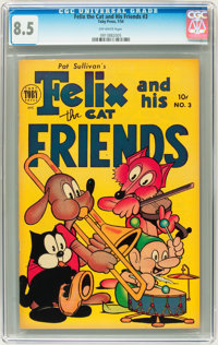 Felix the Cat & His Friends #3 (Toby Publishing, 1954) CGC VF+ 8.5 Off-white pages