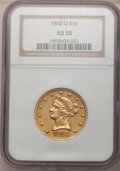 Liberty Eagles, 1850-O $10 AU50 NGC....
