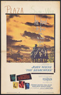 """Movie Posters:Western, The Searchers (Warner Brothers, 1956). Window Card (14"""" X 22"""").Western.. ..."""