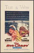 """Movie Posters:War, The Sea Chase (Warner Brothers, 1955). Window Card (14"""" X 22"""").War.. ..."""