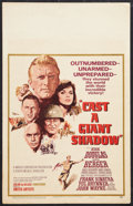 "Movie Posters:War, Cast a Giant Shadow (United Artists, 1966). Window Card (14"" X22""). War.. ..."