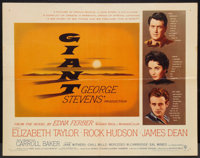 "Giant (Warner Brothers, 1956). Half Sheet (22"" X 28""). Drama"