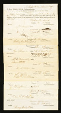 Miscellaneous:Other, New Haven, CT- Connecticut Civil War Payments. Ten Examples.. ...(Total: 10 items)