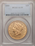 Liberty Double Eagles, 1880 $20 AU55 PCGS....