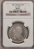 Early Half Dollars: , 1807 50C Draped Bust AU53 NGC. O-110A. NGC Census: (36/729). PCGSPopulation (41/177). Mintage: 301,076. Numismedia Wsl. P...