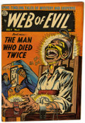 Golden Age (1938-1955):Horror, Web of Evil #5 (Quality, 1953) Condition: FN+....