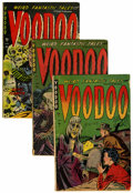 Golden Age (1938-1955):Horror, Voodoo Group (Farrell, 1952-55) Condition: Average GD except asnoted.... (Total: 6 Comic Books)