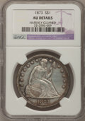 Seated Dollars: , 1873 $1 --Harshly Cleaned--NGC Details. AU. NGC Census: (5/107).PCGS Population (20/108). Mintage: 293,000. Numismedia Wsl....