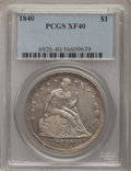 Seated Dollars: , 1840 $1 XF40 PCGS. PCGS Population (37/176). NGC Census: (14/162).Mintage: 61,005. Numismedia Wsl. Price for problem free ...