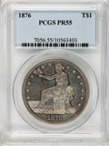 Proof Trade Dollars: , 1876 T$1 PR55 PCGS. PCGS Population (5/234). NGC Census: (0/193).Mintage: 1,150. Numismedia Wsl. Price for problem free NG...