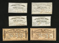 Confederate Notes:Group Lots, Confederate Bond Coupons Six Examples.. ... (Total: 6 items)