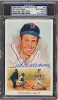 "Baseball Collectibles:Others, Ted Williams Signed Perez-Steele Post Card PSA ""Authentic"". ..."