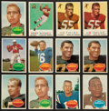 Football Cards:Lots, 1957 through 1960 and 1963 Topps Football Collection With Stars (352 cards). ...