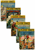 Golden Age (1938-1955):Classics Illustrated, Classic Comics First Editions Group (Gilberton, 1946-47)....(Total: 5 Comic Books)