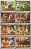 "Movie Posters:Adventure, Escape to Burma (RKO, 1955). Lobby Card Set of 8 (11"" X 14"").Adventure.. ... (Total: 8 Items)"