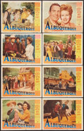 """Movie Posters:Western, Albuquerque (Paramount, 1948). Lobby Card Set of 8 (11"""" X 14""""). Western.. ... (Total: 8 Items)"""