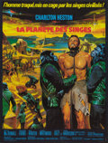 """Movie Posters:Science Fiction, Planet of the Apes (20th Century Fox, 1968). French Affiche (23.5""""X 31.5""""). Science Fiction.. ..."""