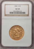 Liberty Eagles: , 1886 $10 AU58 NGC. NGC Census: (152/355). PCGS Population (91/227).Mintage: 236,160. Numismedia Wsl. Price for problem fre...