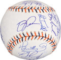 Baseball Collectibles:Balls, 2005 American League All Stars Team Signed Baseball (27Signatures)....