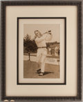 Golf Collectibles:Autographs, Early 1920's Bobby Jones Signed Oversized Photograph, PSA Mint 9....