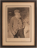 "Golf Collectibles:Autographs, 1903 ""Old Tom"" Morris Signed Print...."