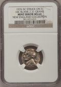 Errors, 1976 5C Jefferson Nickel--Struck on a Blank Dime Planchet--MS64NGC. 2.31 grams. From The New England Collection of Jeffe...
