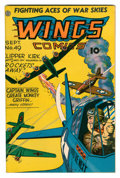 Golden Age (1938-1955):War, Wings Comics #49 (Fiction House, 1944) Condition: VF....