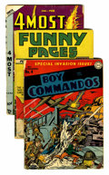 Golden Age (1938-1955):Miscellaneous, Miscellaneous Golden Age Low Grade/Incomplete Group (Various Publishers, 1939-54).... (Total: 8 Comic Books)