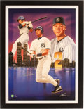 Baseball Collectibles:Others, Derek Jeter Signed Giclee....