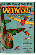 Golden Age (1938-1955):War, Wings Comics Bound Volume #6-8 (Fiction House, 1941)....