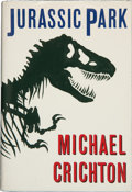 Books:Horror & Supernatural, Michael Crichton. Jurassic Park. New York: Alfred A. Knopf,1990. First trade edition. Publisher's binding and dust ...