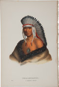 Books:Prints & Leaves, McKenney and Hall. One Hand-Colored Lithograph from the 1870 OctavoEdition of History of the Indian Tribes of North Ame...