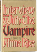 Books:Horror & Supernatural, Anne Rice. Interview With the Vampire. New York: Alfred A.Knopf, 1976. First edition of the author's first book...