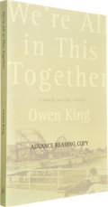 Books:Horror & Supernatural, [Stephen King]. Owen King. INSCRIBED. We're All in ThisTogether. New York: Bloomsbury Publishing, 2005. Advance...