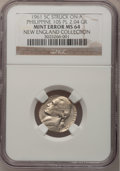 Errors, 1961 5C Jefferson Nickel--Struck on a Philippine 10C Planchet--MS64 NGC. 2.04 grams.. From The New England Collection of J...