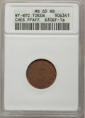 Civil War Merchants, 1863 Cafe Autenrieth MS63 Brown NGC, Fuld-630B-4a, New York, NY;1863 Charles Gentsch, Cafe MS62 Brown NGC, Fuld-630AC-1... (Total:3 tokens)