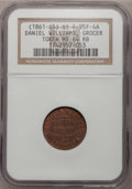 Civil War Merchants, Daniel Williams, Grocer, MS65 Brown NGC, Fuld-95F-3a, Brooklyn, NY;and a Daniel Williams, Grocer, MS64 Red and Brown NGC,... (Total: 2tokens)
