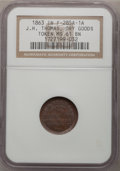 Civil War Merchants, 1863 J.H. Thomas, Dry Goods, MS61 Brown NGC, Fuld-285A-1a,Fortville, IN; 1863 C.G. Vail, Dry Goods--Clip--MS63 Brown NGC,...(Total: 3 tokens)