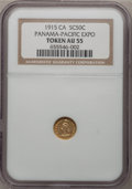 Expositions and Fairs, 1915 Panama-Pacific Expo 1/2 California Gold AU55 NGC....