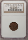 Civil War Merchants, 1863 Hussey's Message Post MS63 Brown NGC, Fuld-630AK-1a, New York,NY; 1863 Hussey's Message Post MS64 Brown ANACS, Ful... (Total: 7tokens)