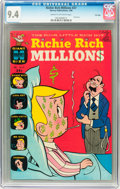 Silver Age (1956-1969):Humor, Richie Rich Millions #27 File Copy (Harvey, 1968) CGC NM 9.4 Cream to off-white pages. ...