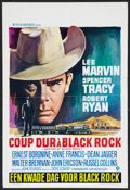 "Movie Posters:Thriller, Bad Day at Black Rock (MGM, R-1960s). Belgian (14.25"" X 21.25""). Thriller.. ..."