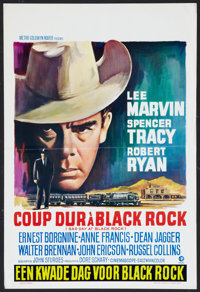 "Bad Day at Black Rock (MGM, R-1960s). Belgian (14.25"" X 21.25""). Thriller"