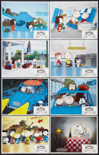 """Bon Voyage, Charlie Brown (Paramount, 1980). Lobby Card Set of 8 (11"""" X 14""""). Animated. ... (Total: 8 Items)"""