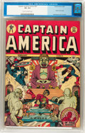 Golden Age (1938-1955):Superhero, Captain America Comics #35 (Timely, 1944) CGC VF+ 8.5 Cream to off-white pages....