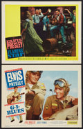 "Movie Posters:Elvis Presley, G.I. Blues Lot (Paramount, 1960). Lobby Cards (2) (11"" X 14"").Elvis Presley.. ... (Total: 2 Items)"