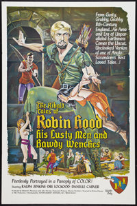 """The Ribald Tales of Robin Hood Lot (Entertainment Ventures, Inc., 1969). One Sheets (2) (27"""" X 41""""). Adult..."""