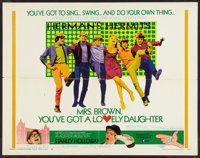"""Mrs. Brown, You've Got a Lovely Daughter Lot (MGM, 1968). Half Sheet (22"""" X 28""""), Lobby Card Set of 8 (11""""..."""